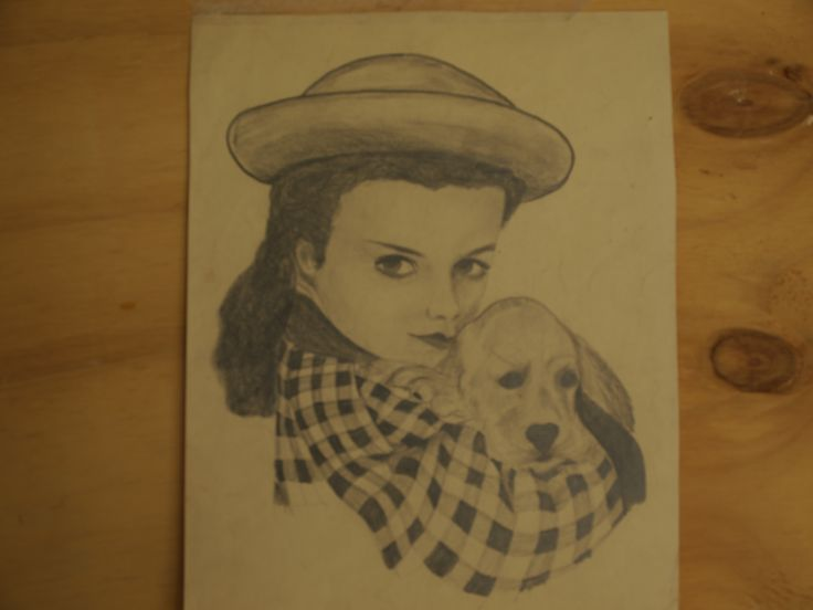 My very first portrait drawing in pencil Around 14 years old.