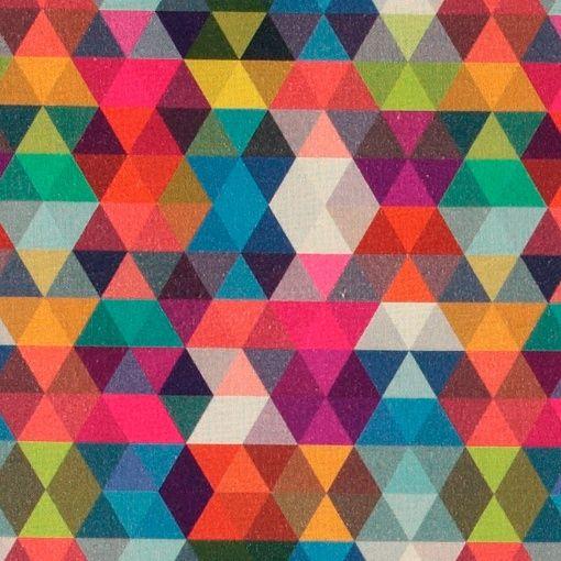 Baumwolle gebürstet, mehrfarbige Dreieck