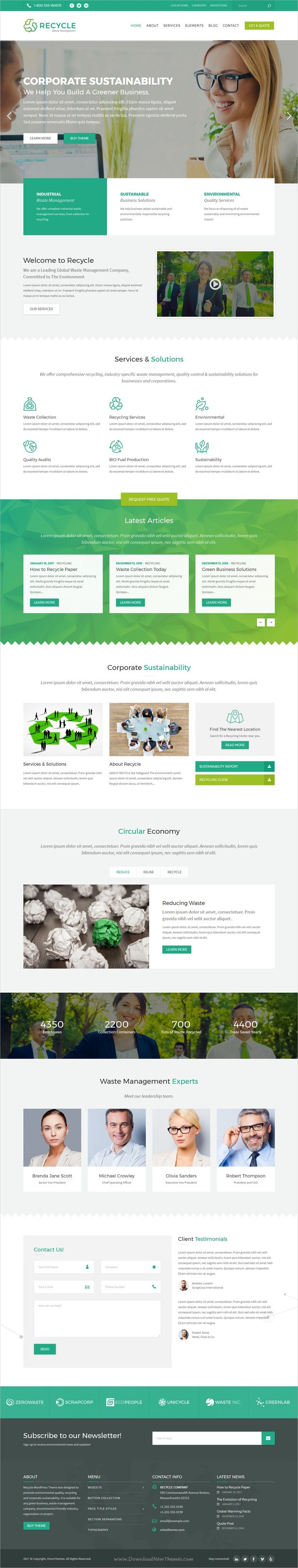 This green website design looks pretty fresh. It's nice that they used a few hues of green. Discover more website design examples at www.dotcomglobalmedia.com