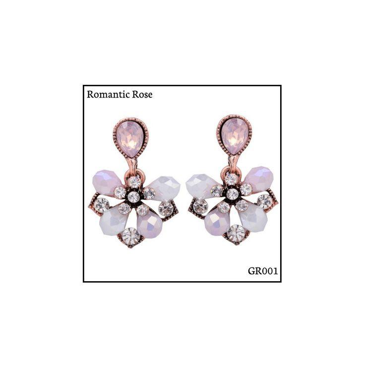 Ref: GR001 Romantic Rose Medidas: 2.9 cm x 1.8 cm So Oh: 5.99 🌱#sooh_store #onlinestore #glam #style #brincos #earrings #fashion #shoponline