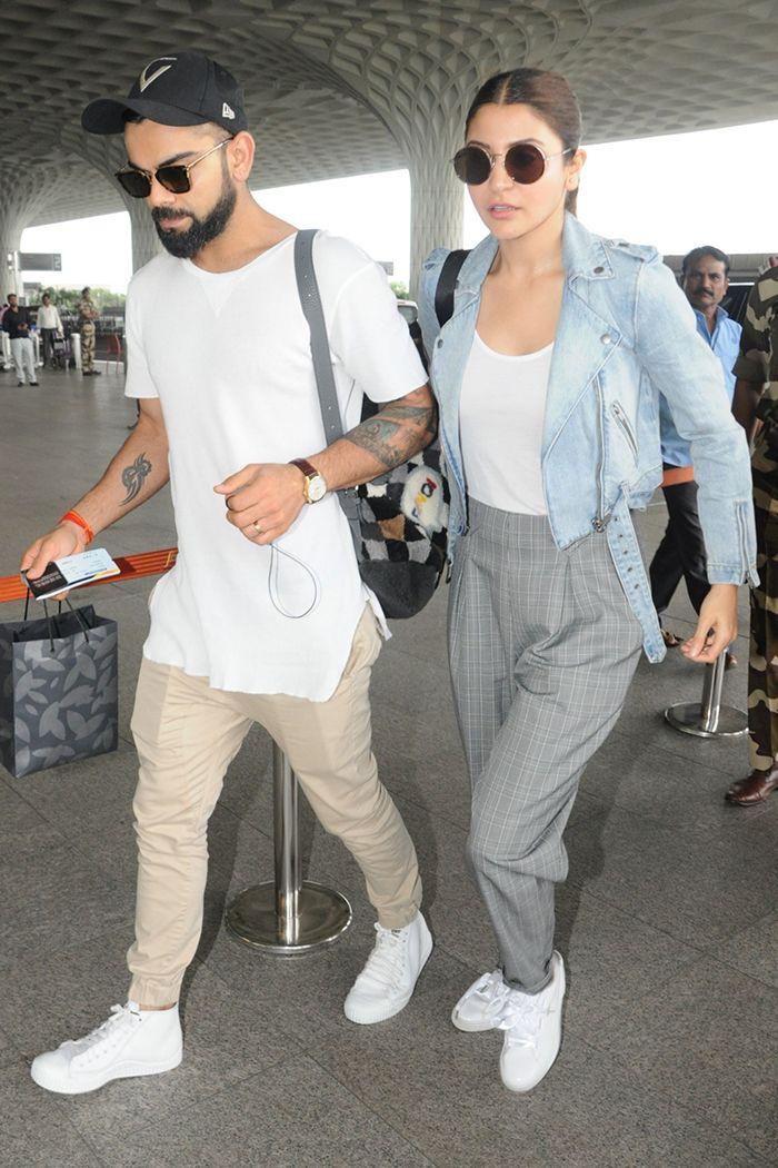 Anushka Sharma And Virat Kohli At Mumbai Airport 3 Virat
