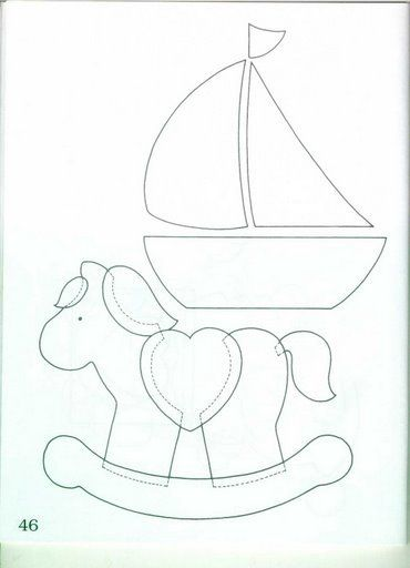 rocking horse and sailboat