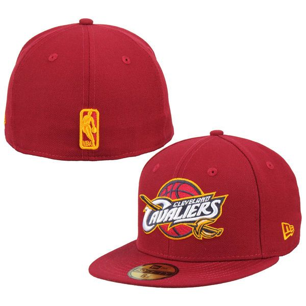 Mens Cleveland Cavaliers New Era Red Team Logo 59FIFTY Fitted Hat, Your Price: $34.99