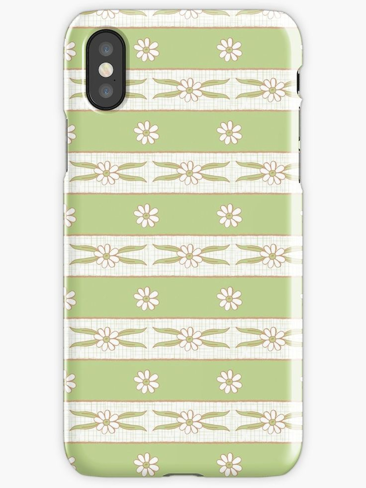 #Letucce #Green #Stripes #flower #lines #daisies #leaves #blossom #fresh #calm #Springtime #Pastel #Flowery #garden #fresh #girly #Mia #redbubble #iphonecase