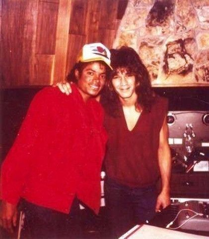 Eddie Van Halen and Michael Jackson in the Studio 1983 | Flickr ...