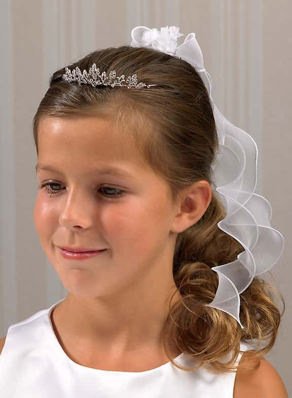 Krone mit Gesteck zur Kommunion Mädchen