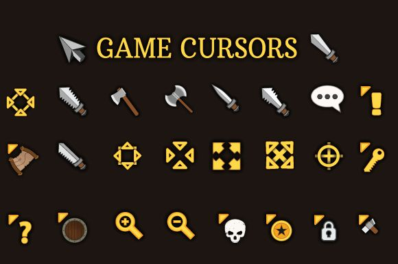 RPG Cursors by cruizRF on Creative Market