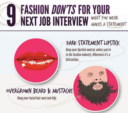 9 fashion donts for your next job interview for more interview tips visit - Job Interview Techniques Tips