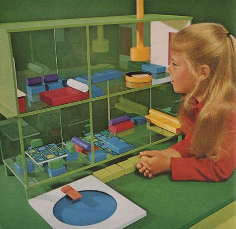 """modern dollhouse, 1972  """"today's dolls are mad for the mod dwelling"""""""