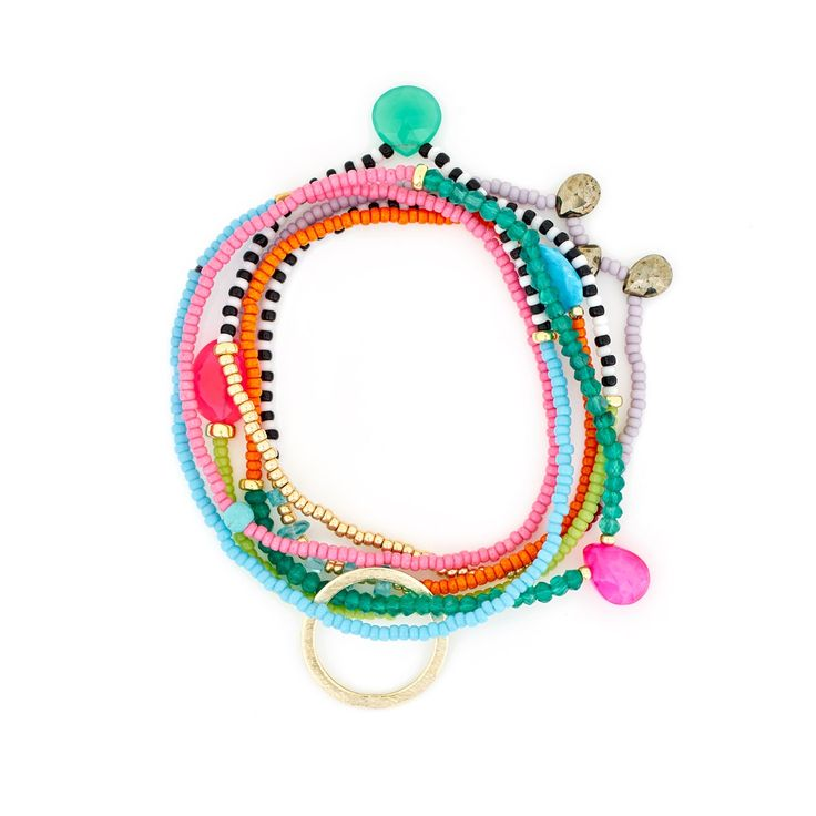 The Makery Gemstring long beaded necklace – MGS01