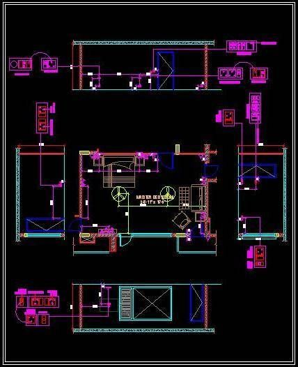 Free Autocad Drawing Of Electrical Design Of A Master Bedroom