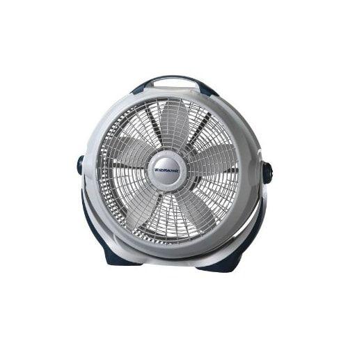 Lasko 20 Inch Wind Machine Lasko 3300 Wind Machine Floor Fan - 5 Blades - 508mm Diameter - 3 Speed x 6.5 Depth - Gray
