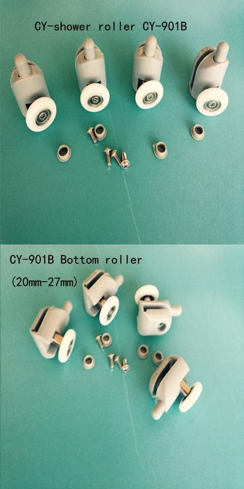 "[Visit to Buy] 4 bottom Shower door rollers runners wheels pulleys pulleys ""Rolli"" #Advertisement"