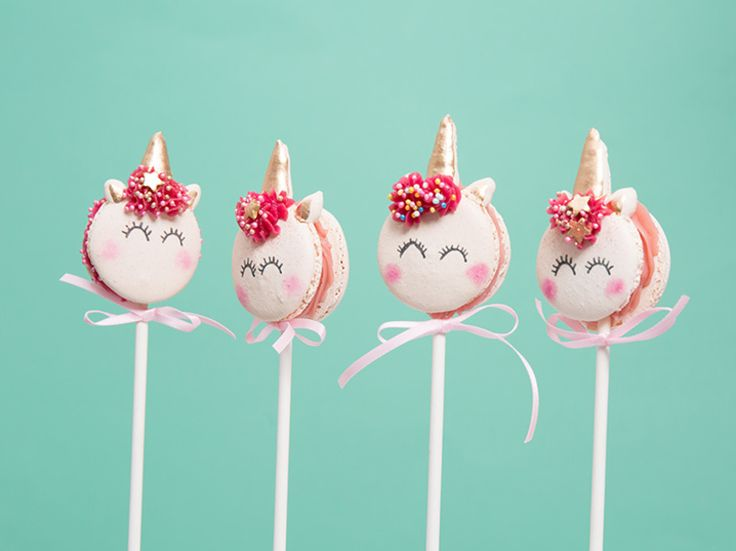 Tutoriel DIY: Faire des macarons Licorne magique en sucette via DaWanda.com
