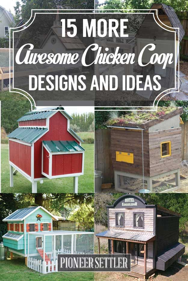 25 best ideas about chicken coops homemade on pinterest for Cool chicken coop plans