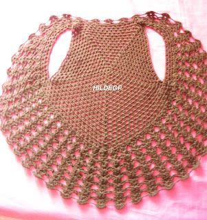 Crochet circular bolero or jacket