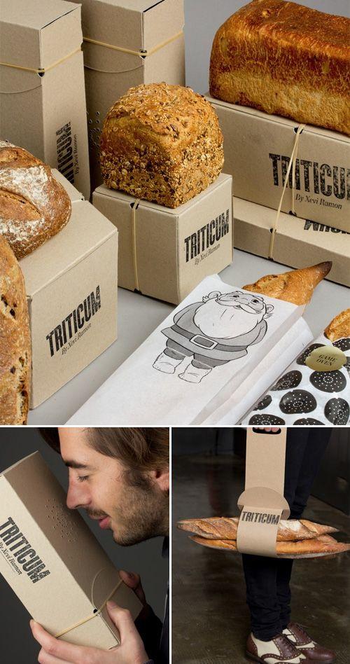 Inspirational Packaging for Web Designers Le studio barcelonnais Lo Siento Studio a planché sur le packaging de la boulangerie espagnole TRITICUM