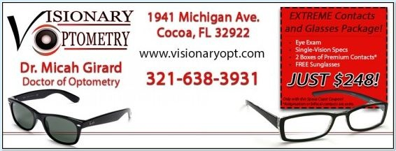 Extreme Contacts & Glasses Package Including Eye Exam @ Visionary Optometry Cocoa FL  http://spacecoastcouponsofbrevard.com/coupons/visionary-optometry
