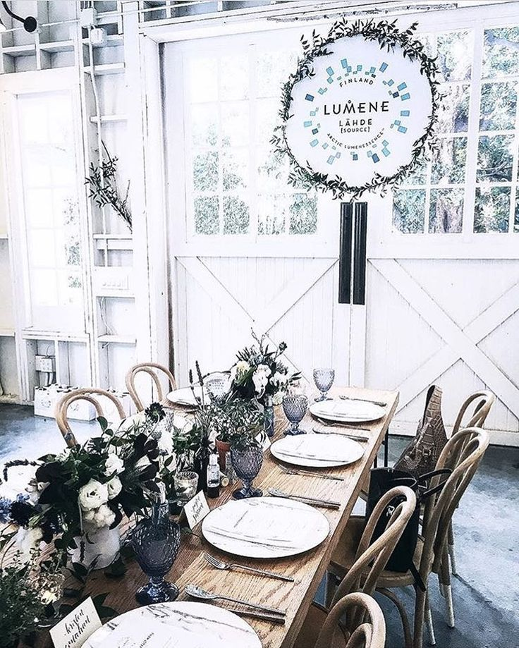 ur beautiful Nordic style table setting Yesterday we talked about holistic hydration in sunny L.A. with bites of well-being, yoga and Nordic skincare secrets  Thanks for featuring us @taylordaniellestone!  #LumeneNordicHydration