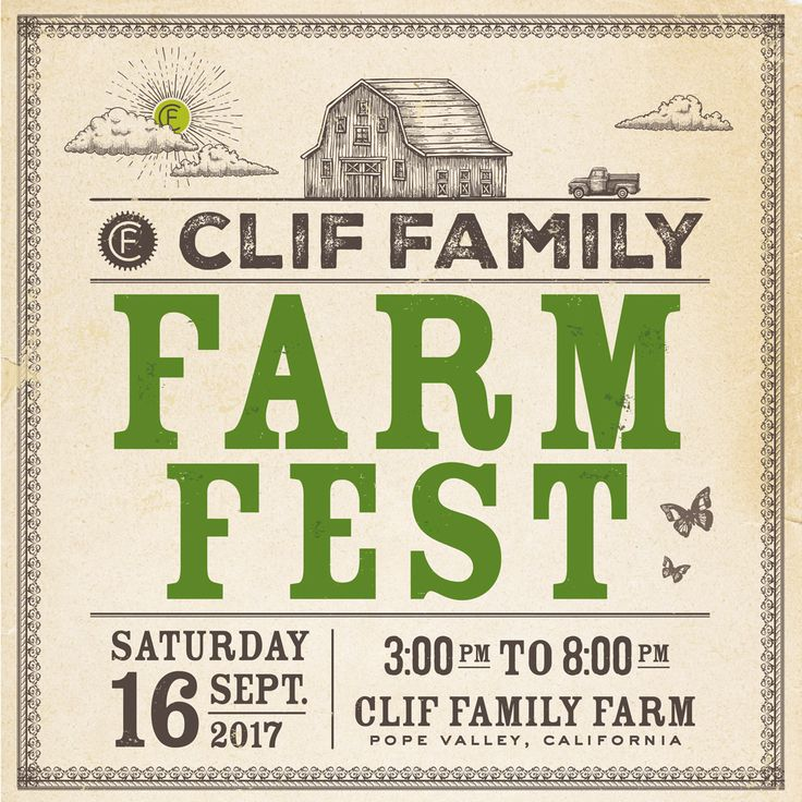 Join us for our 9th Annual Farm Fest celebration at the Clif Family Farm. Tickets available: https://shop.cliffamily.com/store/index.cfm?fuseaction=productdetail&product_id=62  #napavalley #harvestparty #farmfest #napalife