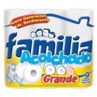 Papel higiénico Familia acolchado Grande x 4 Und
