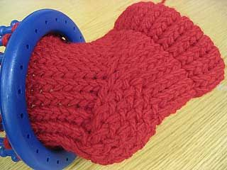 Slipper socks knitting loom pattern