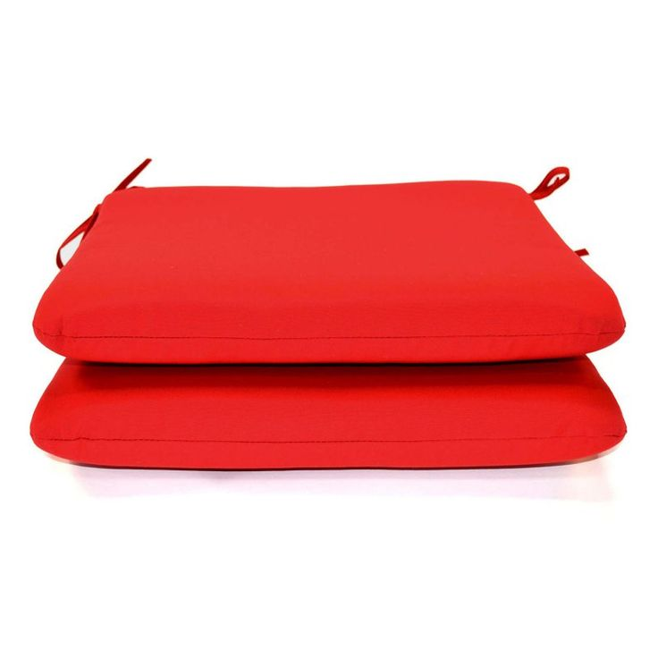 Casual Cushion Sunbrella Outdoor Seat Pad - Set of 2 Jockey Red - DS2801-3032 2PK