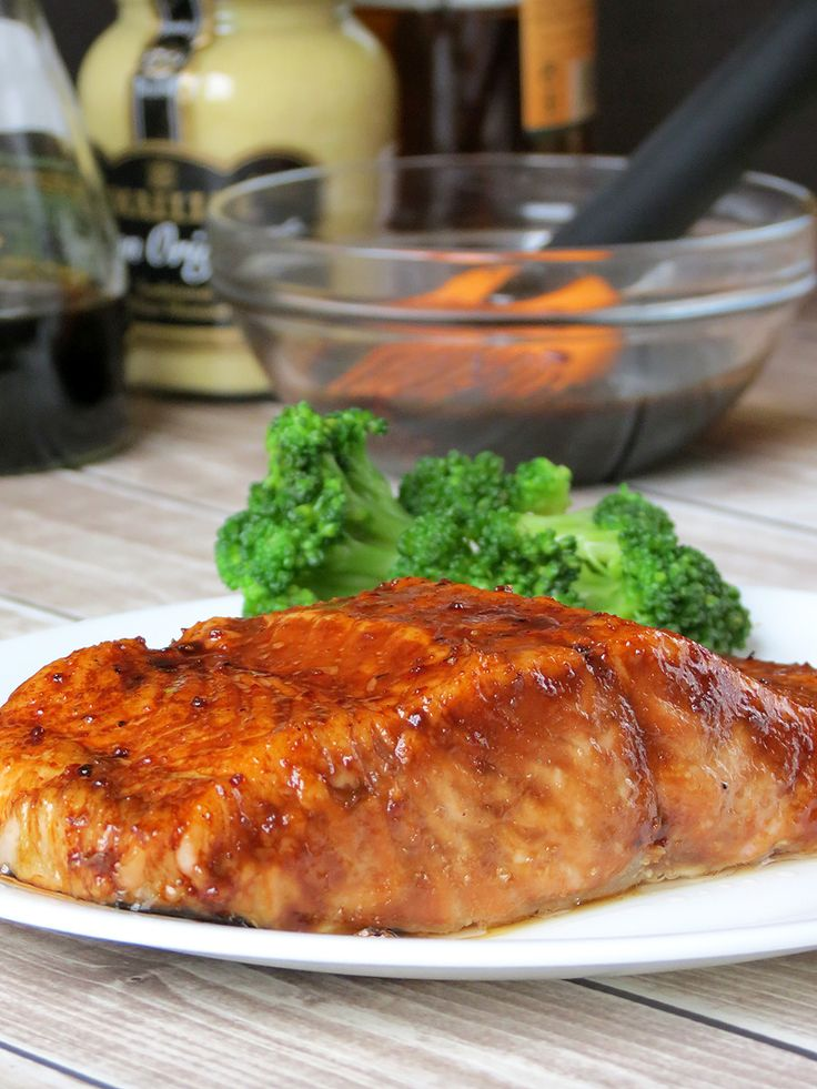 Brown Sugar And Bourbon Glazed Salmon   YummyAddiction.com