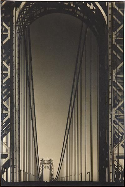 MARGARET BOURKE-WHITE George Washington Bridge, Hudson River, N.Y.C.,circa 1931