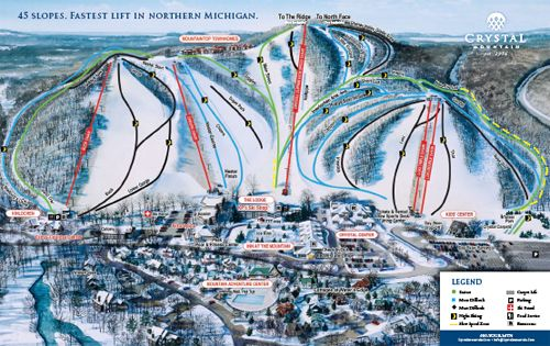 Crystal Mountain Resort  Thompsonville, Michigan  I have skied all but 2 of those runs... I miss those days!