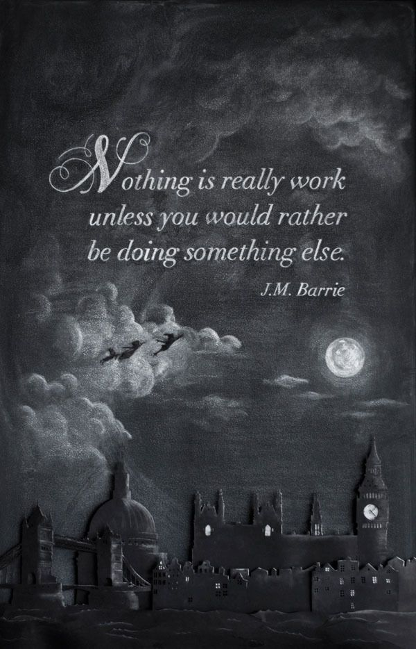 Week 6: J.M. Barrie by DANGERDUST , via Behance: Columbus Colleges, Graphics Design, Chalk Boards, Chalkboards Art, Art And Design, Anonymous Students, Chalkboards Quotes, Art Students, Chalk Art