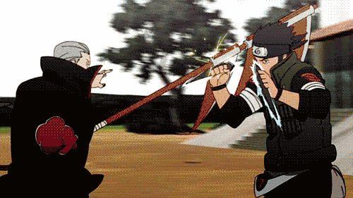 Hidan vs. Asuma #naruto #gif