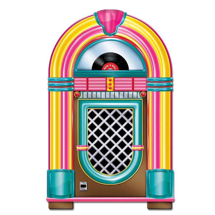 50's Rockn' JUKEBOX Diecut CUTOUT Party Decoration SOCK HOP Grease HAPPY DAYS