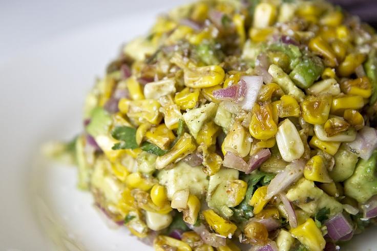 Grilled corn & Avocado salsa: Avocado Recipes, Ultimate Guacamole, Corn Guacamole, Food, Grilled Avocados, Grilled Corn, Dips, Free Recipes