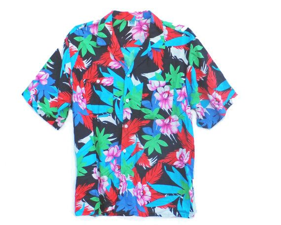 vintage Hawiian shirt bright and crispy goodness by ThePastMagnets, $19.00