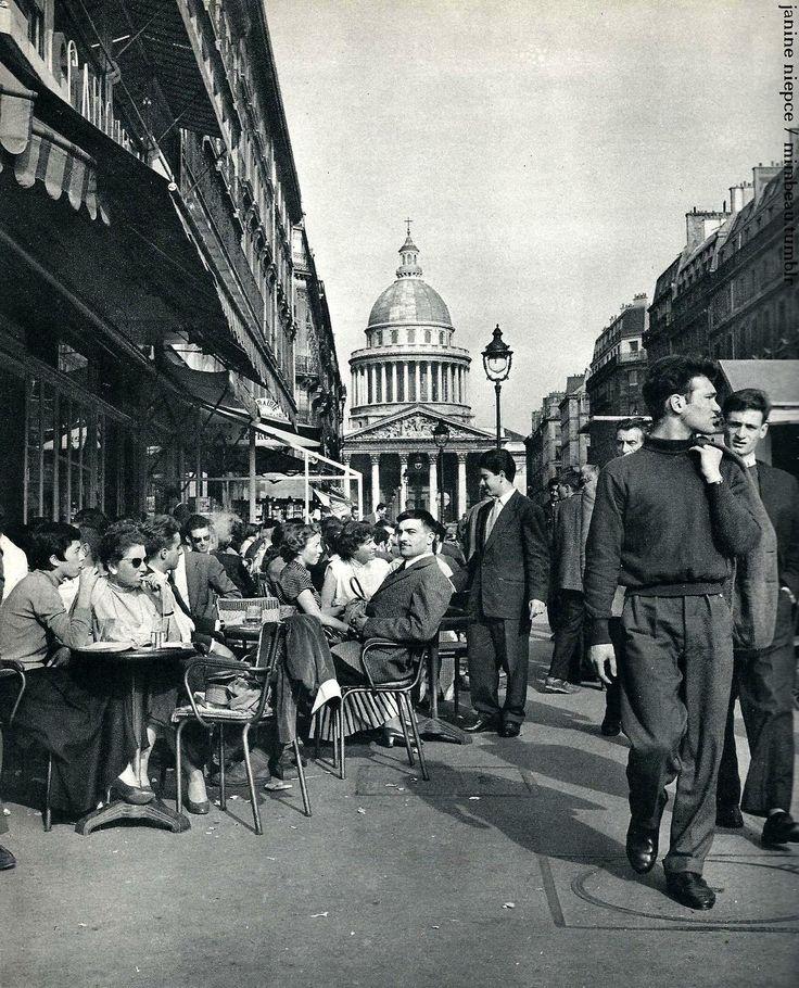 """Paris circa 1950 """"Rue Soufflot - Panthéon"""" by Janine Niepce"""