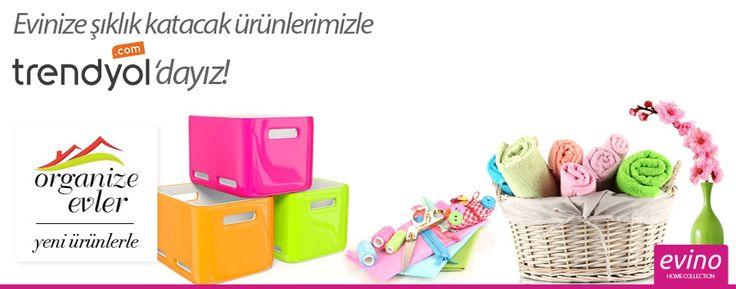 """Evinize şıklık katacak yüzlerce çeşit Evino ürünü Trendyol'un """"Organize Evler"""" butiğinde yer aldı.  http://bit.ly/evinotrendyolda"""