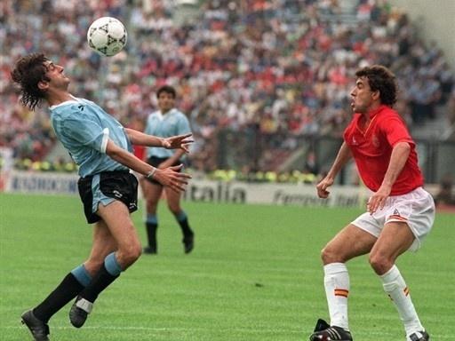 Enzo Francescoli vs España, Italia 90