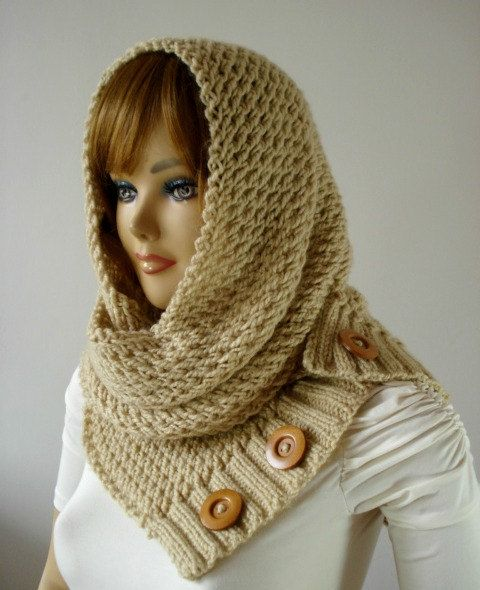 Hooded Cowl Knit Pattern : Best 25+ Cowl scarf ideas on Pinterest