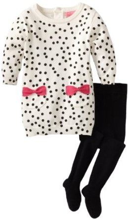 Pusat Grosir Baju Bayi Import - Isaac Mizrahi Bayi-Bayi Perempuan Knit Sweater gaun Polka-Dot Dengan Ketat | Pusat Baju Bayi Terbesar dan Terlengkap Se indonesia