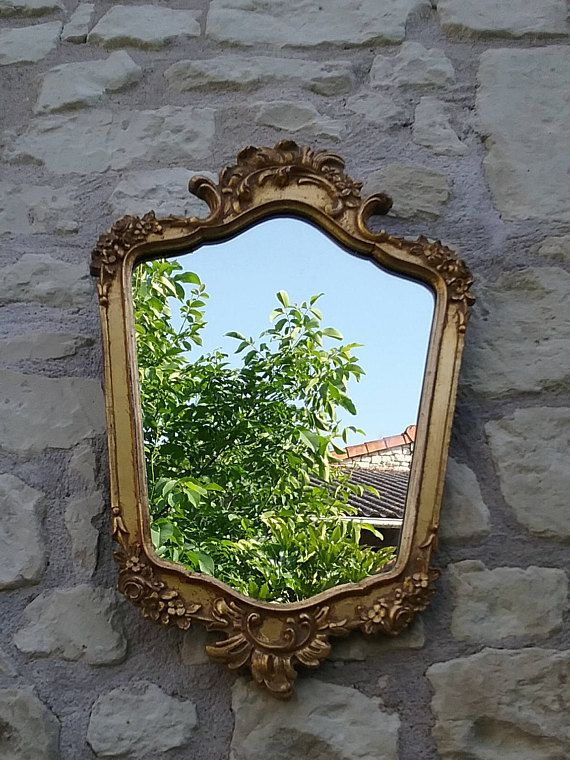 Miroir baroque en bois doré – Ancien Miroir style rococo, France