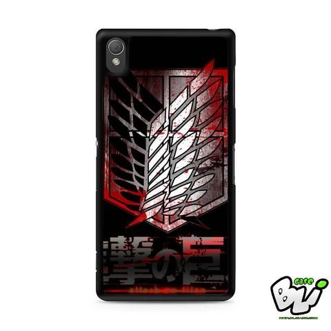 Attack On Titan Military Blood Sony Experia Z3,Z4,Z5,C3,C4,E4,M4,T3 Case,Sony Z3,Z4,Z5 MINI Compact Case