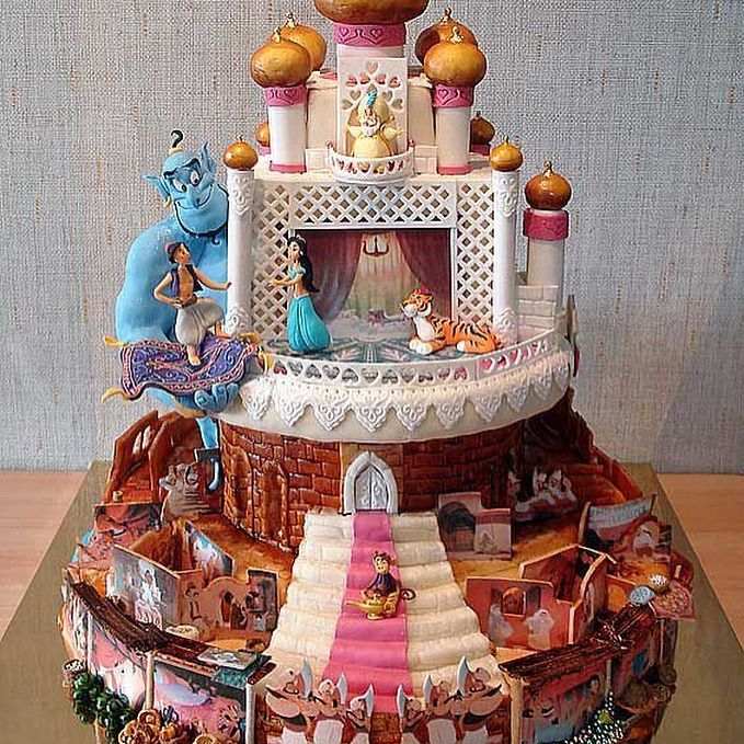 #cakes #Disney #beautiful #colorful #aladdin #jasmine #beautyandthebeast #belle #aliceandwonderland #alice #teaparty #tsumtsum #mickey #minnie http://misstagram.com/ipost/1563382982295437135/?code=BWyQIoLnD9P
