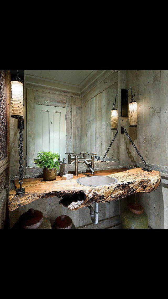 Guest bathroom - reclaimed wood