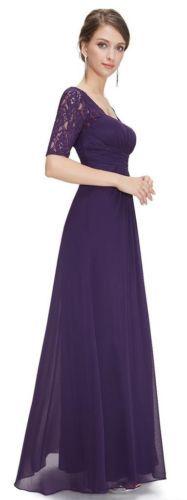 BNWT-PENNY-Aubergine-Purple-Lace-Chiffon-Bridesmaid-Evening-Dress-UK-6-18