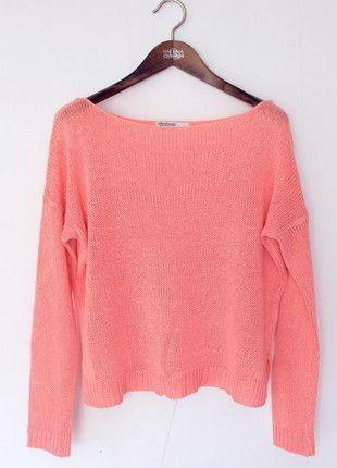 Kup mój przedmiot na #Vinted http://www.vinted.pl/kobiety/swetry-z-dzianiny/9641294-lososiowy-sweterek-stradivarius-rozmiar-m