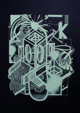 Kouglof Sérigraphie sur papier Keaykolour Original Ébène 300 gr/m2