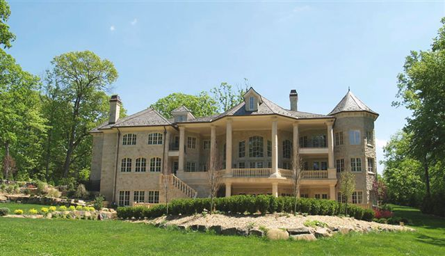 Alpine new jersey french chateau rear elevation manors Nice houses in new jersey