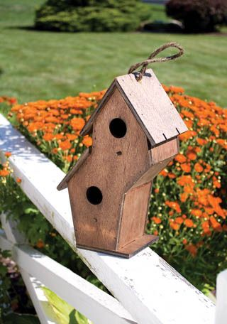 double decker birdhouse ready to have a special paint job.