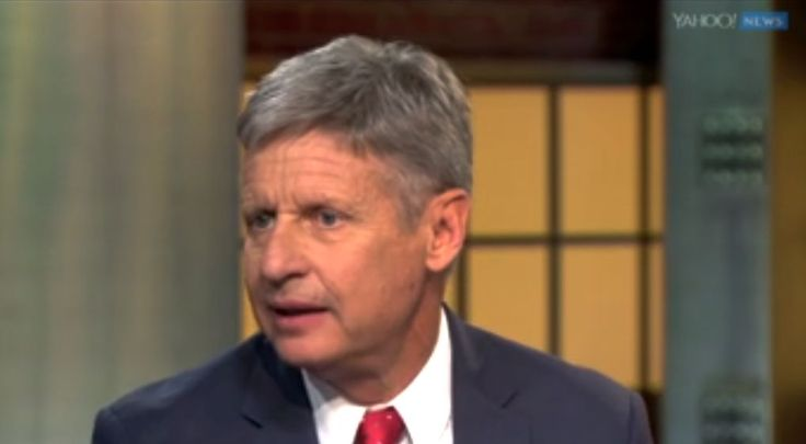 Libertarian presidential candidate Gary Johnson said he is comfortable with his decision to run even if he turns out to take votes from Democrat Hillary Clinton — securing a victory for Republican Donald Trump.  Yahoo Global News Anchor Katie Couric asked the former New Mexico governor to address a concern
